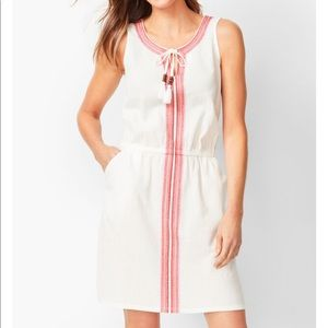Talbots embroidered cover up dress